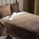 Jasno brązowa pościel satynowa firmy Andropol w rozmiarze 200x220 cm wz 18 119