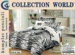Pościel 200x220 Zebra Biało Czarna Collection World 100% bawełna wz 530.