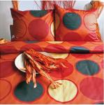 Ekskluzywna pościel satynowa Andropol 160x200 cm 100% bawełna wz. 17644/6 . Pomarańczowa pościel 160x200