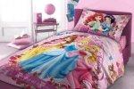 Różowa Pościel dla dziewczynki Princess Księżniczki Disney 160x200 Faro 100% bawełna