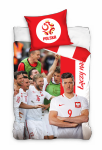 Pościel Reprezentacja Polski PZPN 160x200 Carbotex 100% bawełna wz PZPN 173041 Piłka Nożna