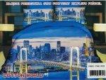 Pościel 3D Miasto Cotton World 160x200 100% mikrowłókno. Pościel z Miastem