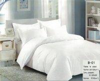 Pościel Mengtianzi Gładka Biała 160x200 100% bawełna B-01
