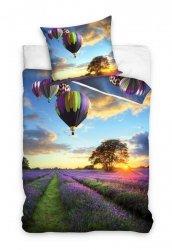 Pościel młodzieżowa 3D Balony - Lawenda 140x200 Carbotex Kolorowa 100% bawełna  NL171063