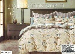 Pościel Collection World 200x220 Beżowa w Kwiaty 100% bawełna wz 750