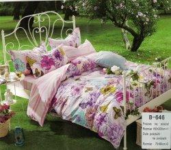 Pościel Mengtianzi Różowa w Kwiaty 160x200 100% bawełna B-646