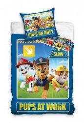 Pościel Psi Patrol Niebieska 140x200 Carbotex 100% bawełna PAW192008