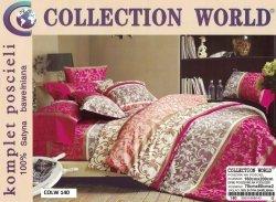 Pościel Collection World 160x200 Fioletowa 100% bawełna wz 140