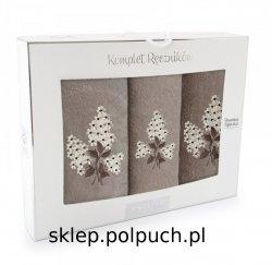 Komplet ręczników Zwoltex BEZ Nugat - Beżowy - 3szt. 30x50 cm + 50x60cm + 70x130cm.
