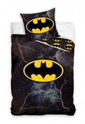 Pościel Batman 160x200 Czarna - Carbotex 100% bawełna wz. BAT 001