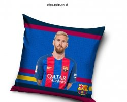 Poszewka Barcelona - Messi 40x40 cm Carbotex 100% bawełna Piłka Nożna