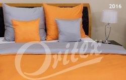 Szara - Żółta Gładka pościel z makosatyny 160x200 Oritex 100% bawełna. Dwukolorowa pościel Szaro - Żółta 160x200