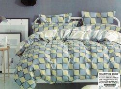 Pościel Collection World 160x200 Kolorowa w Kratkę 100% bawełna wz 1050