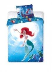 Niebieska Pościel dla dziewczynki Mała Syrenka Ariel Disney 160x200 Faro 100% bawełna