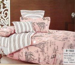Pościel Mengtianzi 140x200 Paryż Różowa 100% bawełna B-192 Z