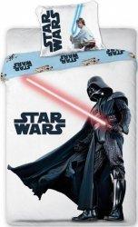 Pościel Star Wars Gwiezdne Wojny 160x200. Dwustronny komplet pościeli Star Wars 160x200 Faro 100% bawełna wz 001