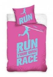 Pościel z Perkalu 160x200 Różowa- Dla sportowców - Carbotex 100% bawełna - Najwyższa jakość bawełny!
