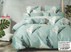 Pościel Collection World 160x200 Pastelowo Niebieska w Kwiaty100% bawełna wz 1294