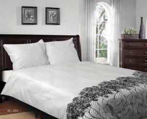 Pościel satynowa Matex Exclusive 160x200 cm Biała 100% bawełna wz SE 20A