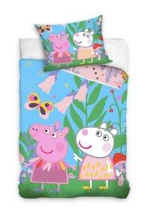 Pościel Świnka Peppa i Przyjaciele  160x200 cm kolorowa dla dzieci Carbotex 100% bawełna wz PP 191062