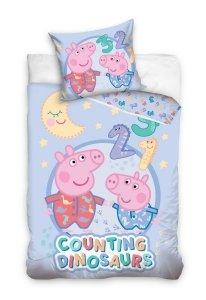 Pościel dla dzieci Peppa Pig 100x135 + poszewka 40x60 Świnka Peppa George 100% bawełna Carbotex PP195002