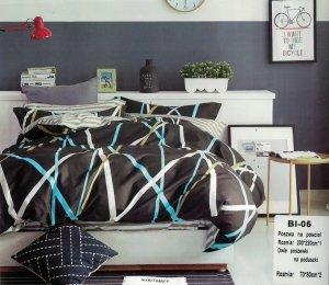 Pościel Mengtianzi Grafitowa 200x220 cm 100% bawełna B1-05
