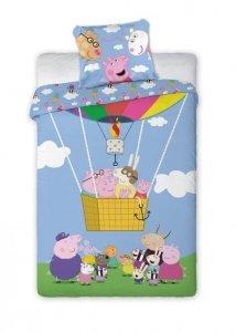 Pościel Świnka Peppa i Przyjaciele  160x200 cm kolorowa dla dzieci Carbotex 100% bawełna wz PP 182002