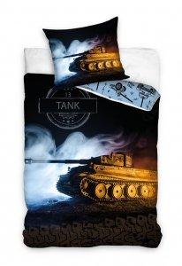 Pościel młodzieżowa 3D 160x200 z czołgiem ciężkim Tygrys Carbotex 100% bawełna. Pościel 3D z czołgiem 160x200