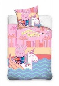 Pościel Świnka Peppa 160x200 cm Różowa dla dziewczynki Carbotex 100% bawełna wz PP 187002