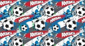 Pościel Piłka Nożna 160x200 100% bawełna. 5-częsciowy komplet pościeli z czystej bawełny - Piłkarska