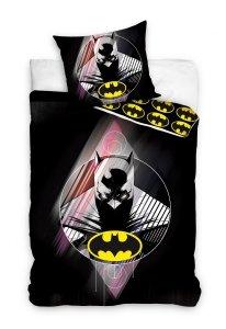 Pościel Batman 160x200 Czarna - Carbotex 100% bawełna wz. BAT 131
