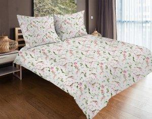 Pościel satynowa Matex Exclusive 160x200 Ecru w Kwiaty 100% bawełna wz SE-42A