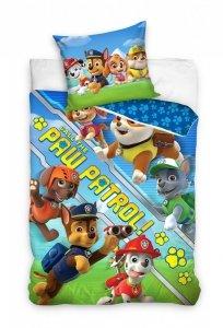 Niebieska Pościel dla dzieci Psi Patrol 160x200 Carbotex 100% bawełna PAW 203032