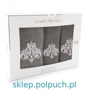 Komplet ręczników Zwoltex Sułtan Taupe - 3szt. 30x50 cm + 50x60cm + 70x130cm.