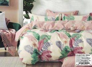 Pościel Collection World 140x200  Ecru w Kwiaty  100% bawełna wz 1356