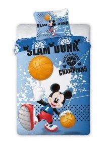 Pościel Myszka Mickey Koszykówka 160x200 cm Faro 100% bawełna Mickey Mouse Basketball
