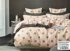 Pościel Collection World 160x200 Różowa - Szara 100% bawełna wz 1333