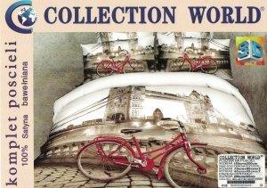 Ekskluzywny komplet pościeli Collection World 3D 160x200 cm London Bridge - Rower. Pościel 160x200 3D wz 416
