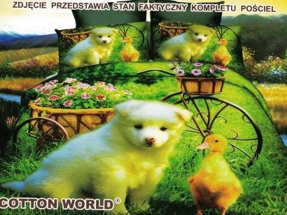 Pościel 3D Piesek - Szczeniaczek 160x200 Cotton World 100% mikrowłókno