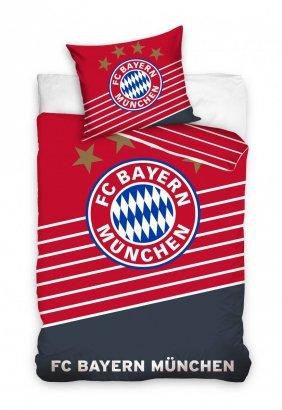 Oficjalna pościel Bayern Monachium Czerwona 160x200 100% bawełna Carbotex. Pościel Piłka Nożna Bayern Monachium