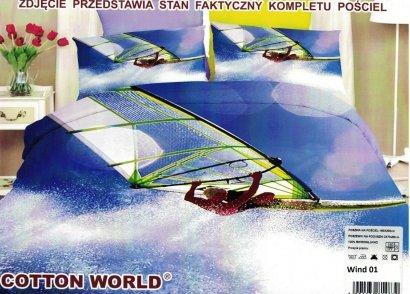 Pościel 3D Windsurfing 160x200 Cotton World wz. Wind 01