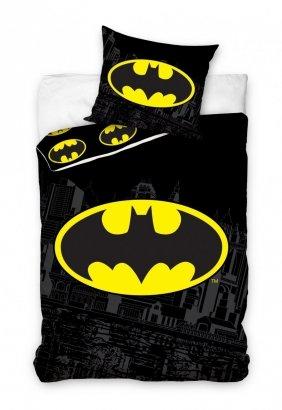 Pościel Batman 140x200 Czarna - Carbotex 100% bawełna wz. BAT8004