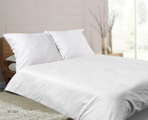Pościel satynowa Matex Exclusive 160x200 cm Biała 100% bawełna wz SE 21A