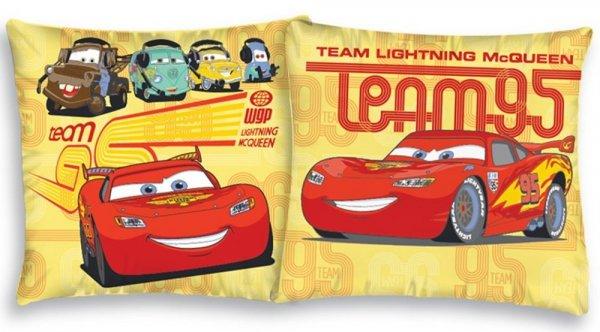 Dwustronna poszewka na poduszkę dla dzieci Cars 40x40 cm Detexpol