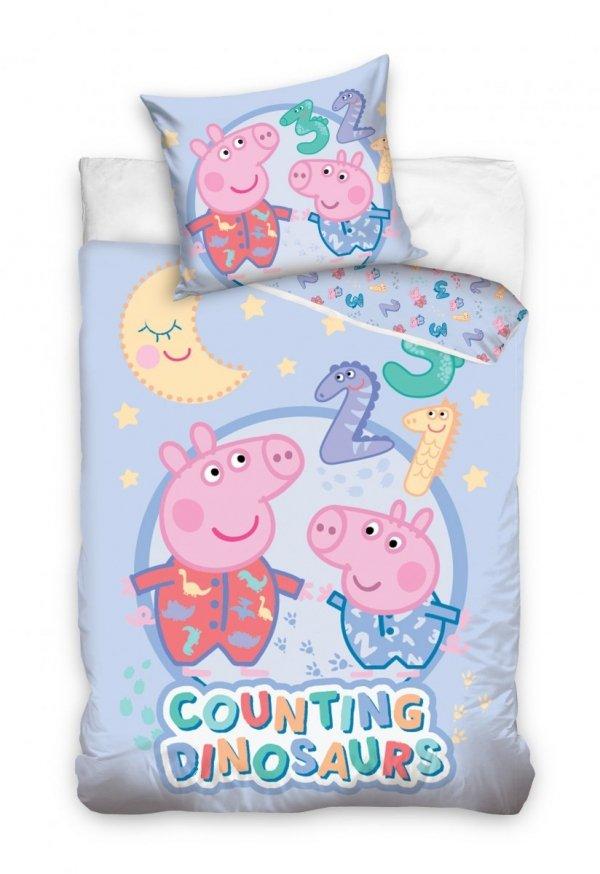 Pościel dla niemowląt 100x135 Świnka Peppa Carbotex 100% bawełna  PP195002