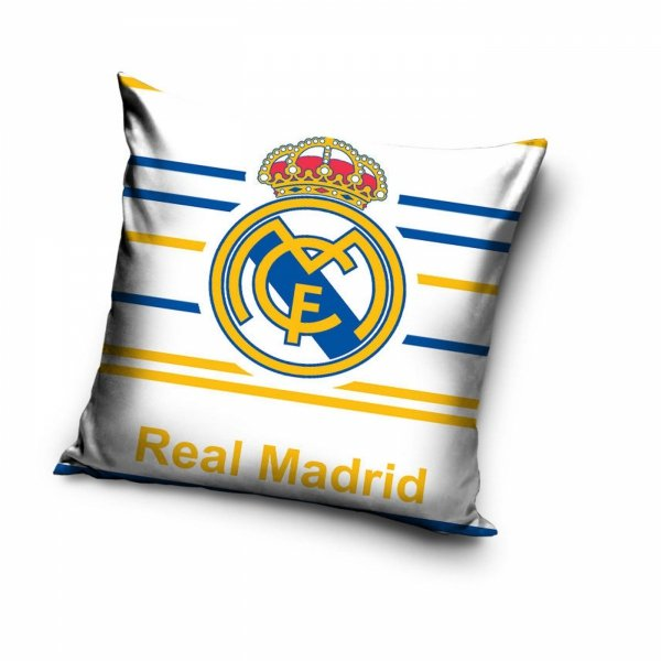 Poszewka Real Madryt 40x40 Biała Carbotex 100% bawełna