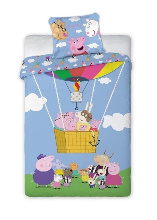 Pościel dla dzieci Świnka Peppa i Przyjaciele 160x200 Carbotex