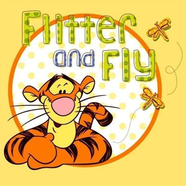 Poszewka bawełniana dla dzieci Disney Kubuś Puchatek Tygrysek 40x40 Detexpol 100% bawełna  Miś