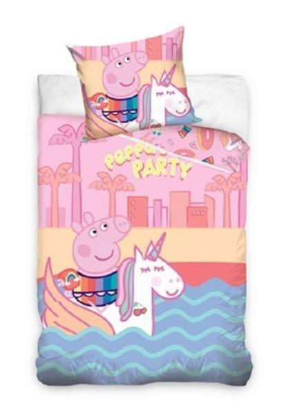 Różowa pościel Świnka Peppa 160x200 dla dziewczynki Carbotex