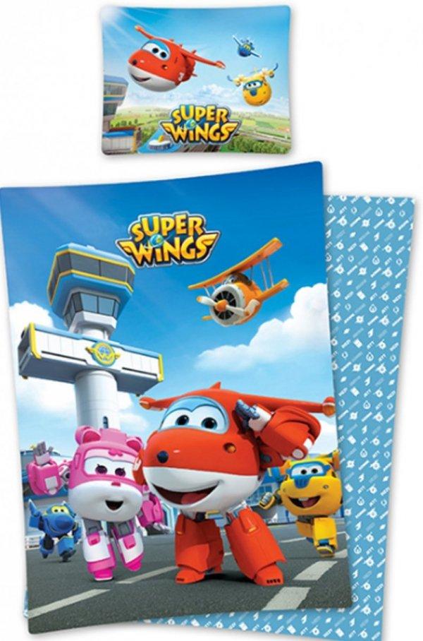Pościel dla chłopca Super Wings Samoloty 160x200 Detexpol 100% bawełna
